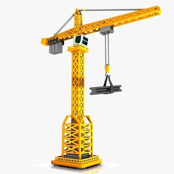 اعضای تشکیل دهنده جرثقیل برجی – تاور کرین tower crane